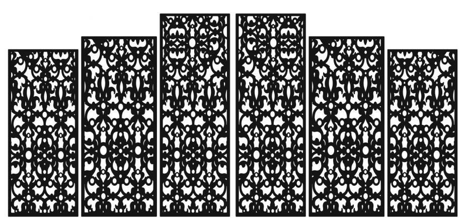 Свадебная ширма 6 створок прямоугольная