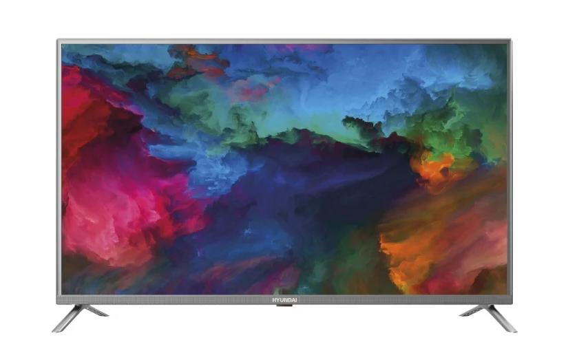 Телевизор HYUNDAI H-LED43ES5001-T2-FHD-SMART Серый металлик