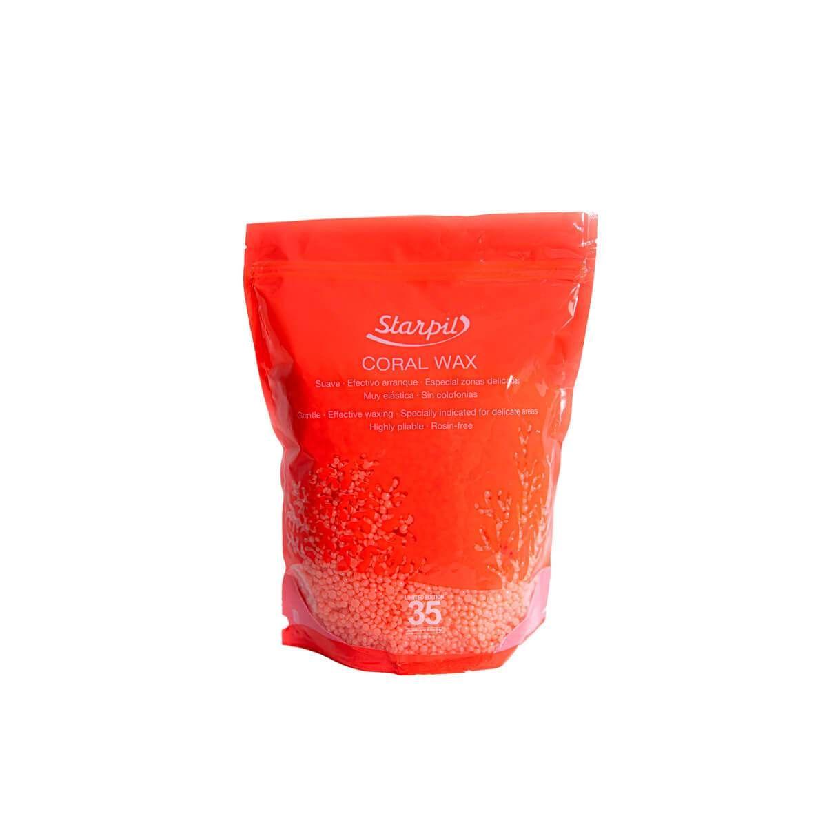 Starpil Высокоэластичный полимерный воск, Коралл в гранулах 1000 гр
