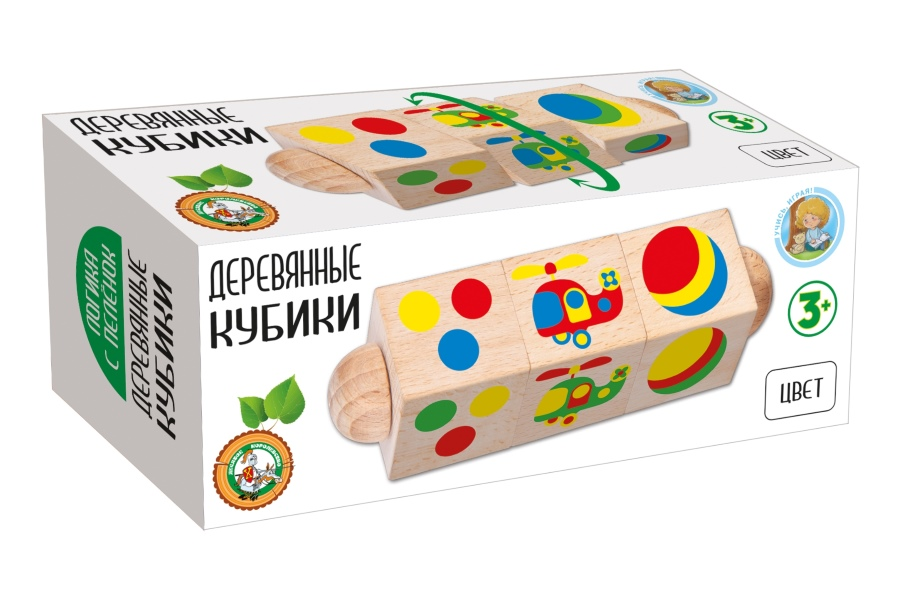 Кубики ДЕСЯТОЕ КОРОЛЕВСТВО 02961 Цвет на оси