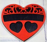 Подложка для колец сердце необычная