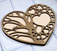 Подложка для колец сердце с деревом