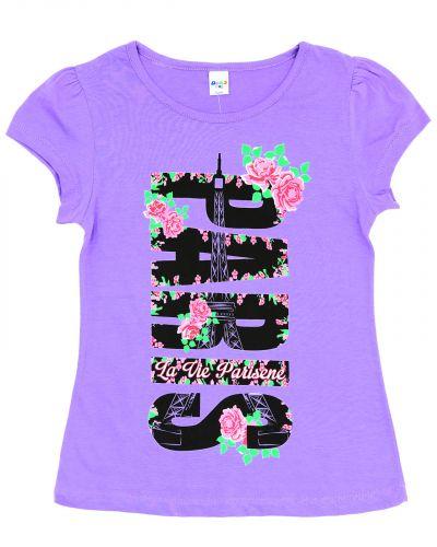 Футболка для девочек 8-12 лет Dias kids фиолетовая