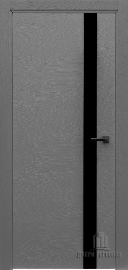 Дверь межкомнатная Uno Grigio (Ral 7015) Остекленная