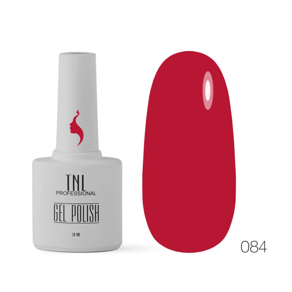 TNL гель-лак 8 чувств 084 насыщенный красный, 10ml