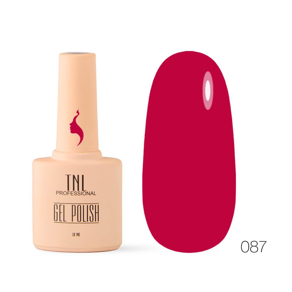 TNL гель-лак 8 чувств 087 роскошный красный, 10ml