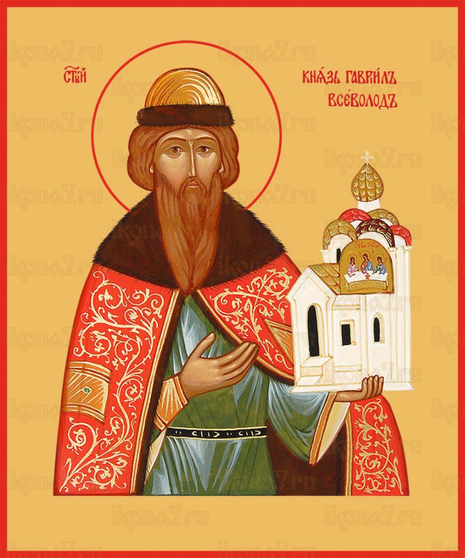 Икона Всеволод Новгородский благоверный князь