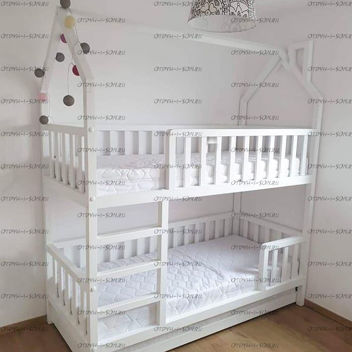 Кровать двухъярусная Домик Standard №15++