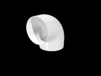 10ККП 45°, Колено круглое пластик 45°, D100