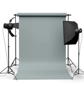Фотофон виниловый Минеральный серый ширина 1.5м