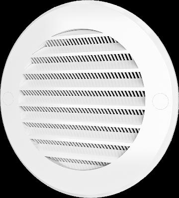 Решетка вентиляционная круглая с пластиковой сеткой D130