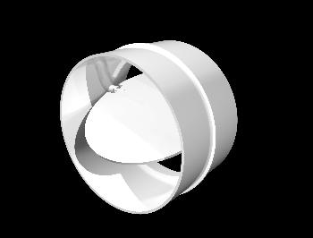 Соединители круглых каналов с обратным клапаном D100