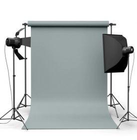 Фотофон виниловый Минеральный серый ширина 3.2м