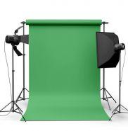 Фотофон виниловый Светло-зеленый ширина 3.2м