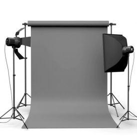 Фотофон виниловый Серый ширина 1.5м