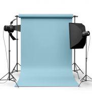 Фотофон виниловый Голубой ширина 1.5м