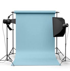Фотофон виниловый Голубой ширина 3.2м
