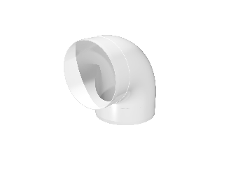 Колено круглое пластик 45°