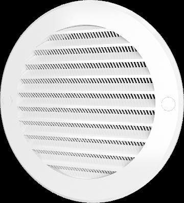 Решетки круглые с сеткой и фланцем