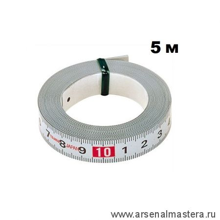 Самоклеящаяся стальная мерная лента TAJIMA Pit Measure 5 м / 13 мм PIT-50 PIT50MWL00 1-1