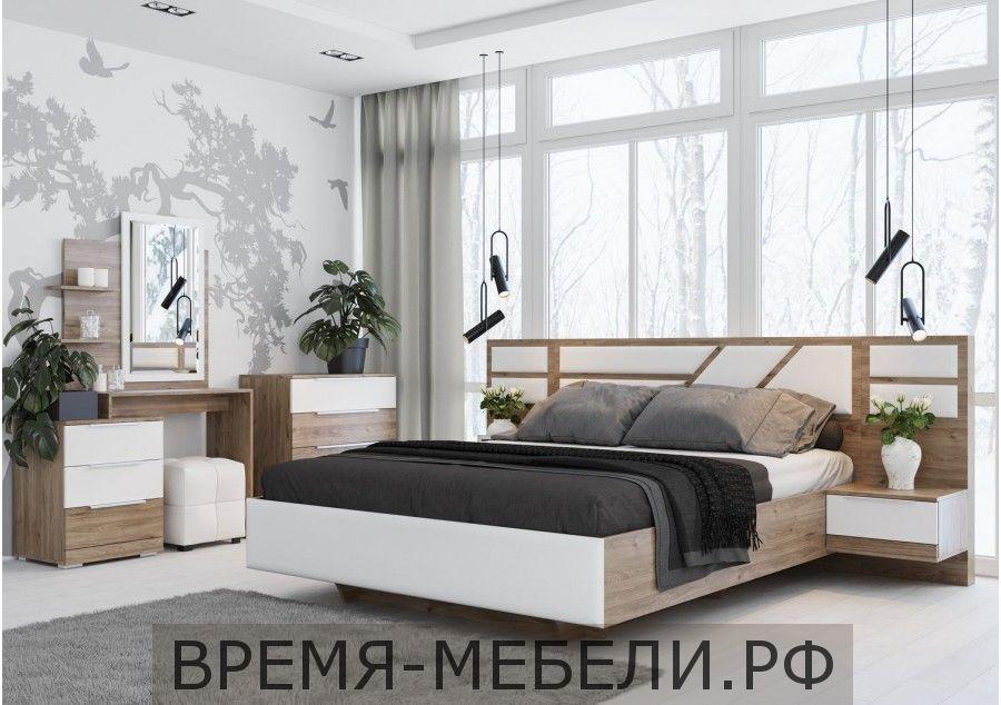 Лагуна 8 Кровать двойная (С основанием ЛДСП 1.6х2.0) Престиж