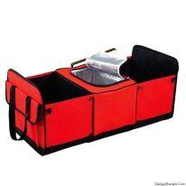 Органайзер - холодильник в багажник автомобиля TRUNK ORGANIZER & COOLER, красный