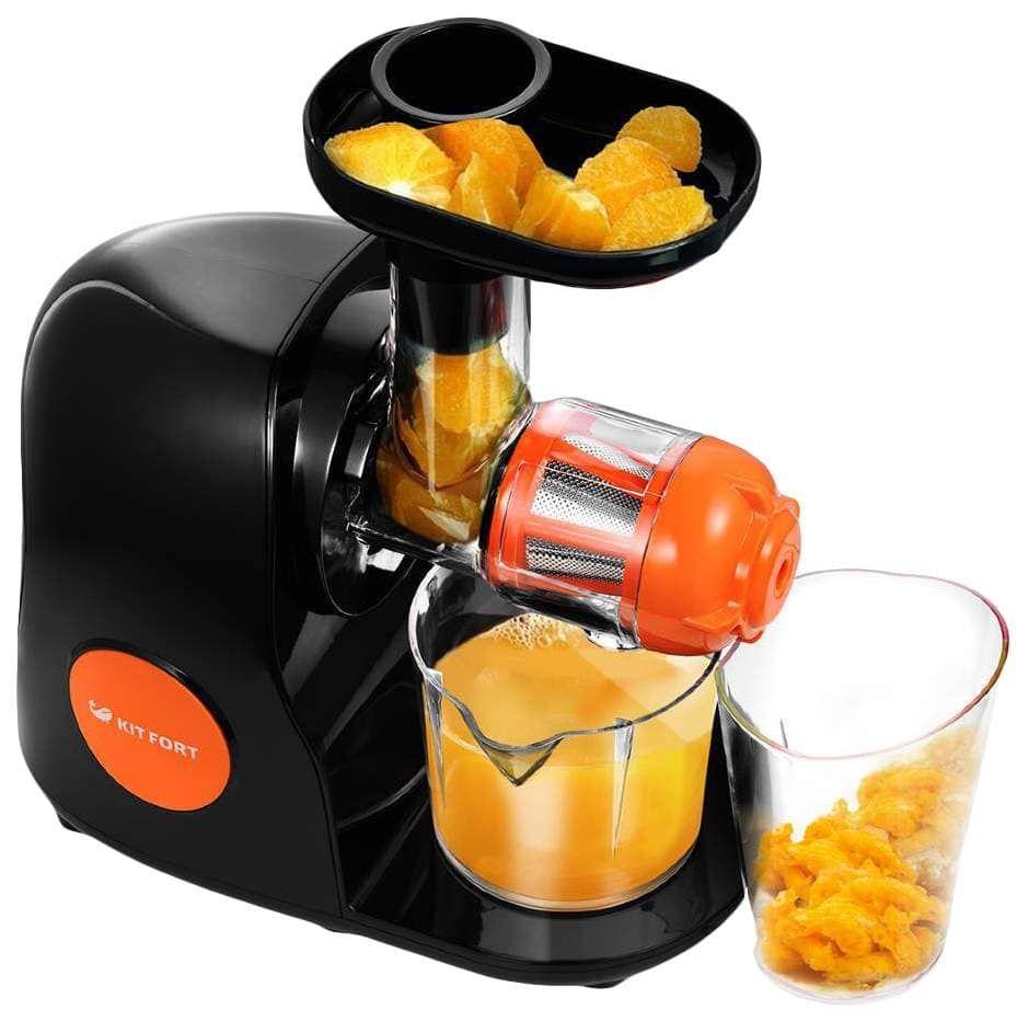 Соковыжималка шнековая KitFort КТ-1111-2 оранжевый