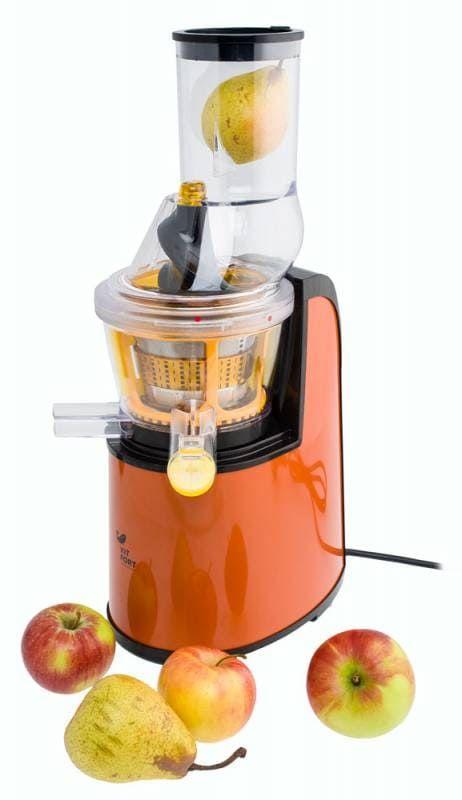 Шнековая соковыжималка KitFort КТ-1102-1 оранжевая