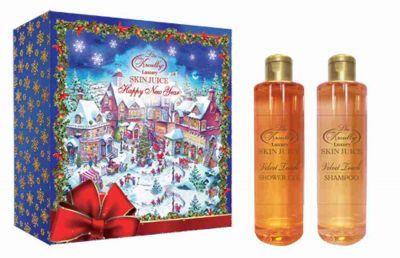 Liss Kroully Skin juice Парфюмерно-косметический подарочный набор NY-1705 Velvet touch Шампунь 260 мл + Гель для душа 260 мл