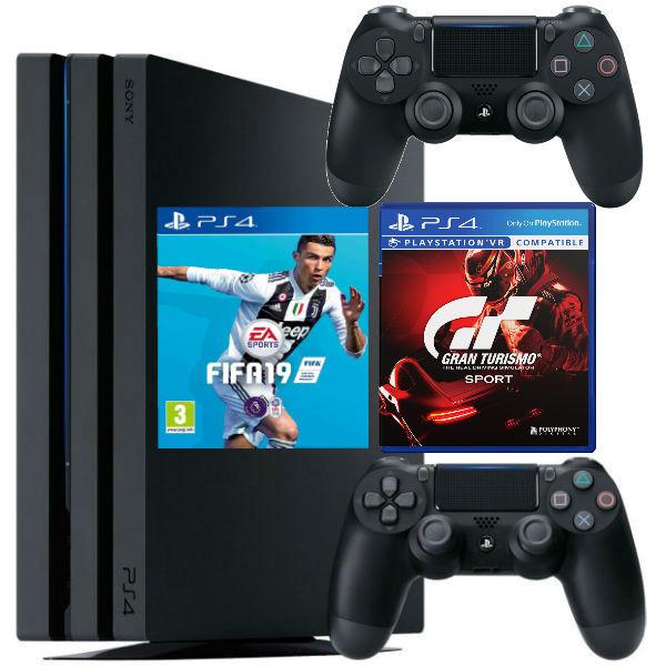 Игровая консоль  Sony Playstation 4 Pro 1TB (CUH-7116B) + GT Sport + FIFA 19 + Геймпад