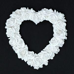 """Фоторамка """"Сердце из роз"""" белая   4197801"""