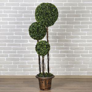 """Дерево искусственное """"Три шара"""" крупный лист 150 см   3530329"""