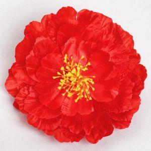 Цветы искусственные для декора, цвет красный