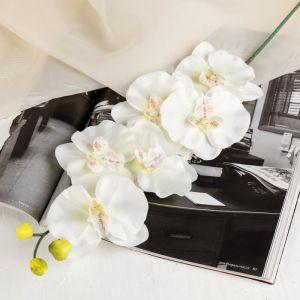 """Цветок искусственный """"Орхидея"""" 9x60 см, белая"""