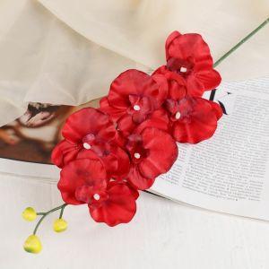 """Цветок искусственный """"Орхидея"""" 9*60 см, красная   3534216"""