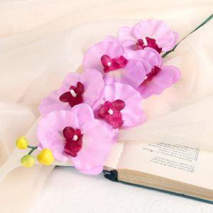 """Цветок искусственный """"Орхидея"""" 9*60 см, сиреневая   3534213"""