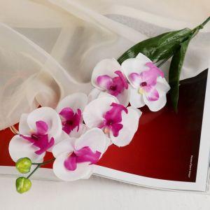 """Цветы искусственные """"Пышная орхидея"""" пурпурно-белая"""