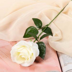 """Цветы искусственные """"Роза Глория"""" 9*60 см, белая 2566039"""