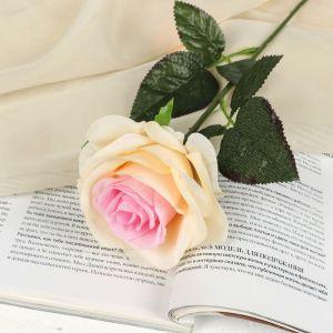 """Цветы искусственные """"Роза Глория"""" 9*60 см, кремовая 2566040"""
