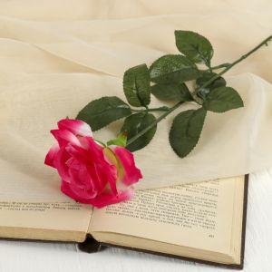 """Цветок искусственный """"Ярко-розовая роза"""""""