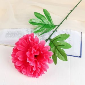 Цветы искусственные (стебель-пластик,бутон-ткань) пион 47 см, d-16 розовый 652050