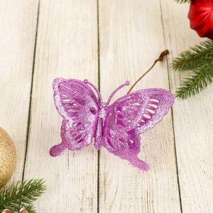 """Ветка для декора """"Двойная бабочка"""" микс"""