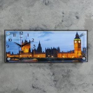 """Часы-картина настенные, серия: Город, """"Биг-Бен"""", 50х20 см 1127934"""