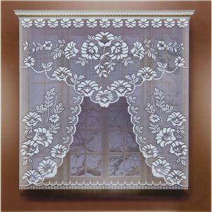 Штора вуаль однотонная 140х145 см, белый, шторная лента, пэ 100% 5160928