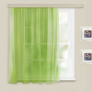 Штора вуаль однотонная 140х180 см светло-зеленый, п/э 100%   3749868