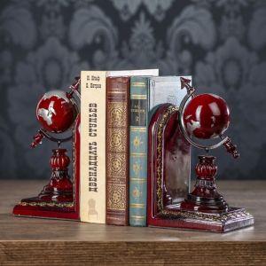 """Держатели для книг """"Глобус"""" набор 2 штуки 21х12х10,3 см   3472980"""