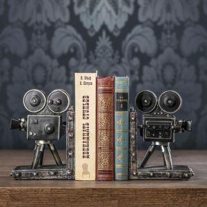 """Держатели для книг """"Кинокамера"""" набор 2 штуки 18х13х11 см   3472978"""