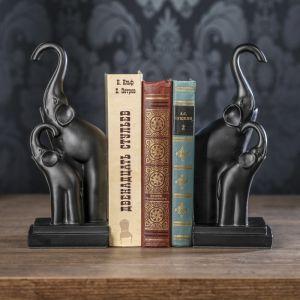 """Держатели для книг """"Слоны"""" набор 2 штуки 25,5х10,5х10,5 см   3472979"""