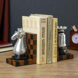 "Держатели для книг ""Шахматы"" набор 2 штуки 14х22х9 см   4141761"