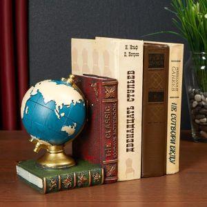 """Держатель для книг интерьерный """"Глобус и книги"""" МИКС 16,5х13х11,5 см   5050974"""